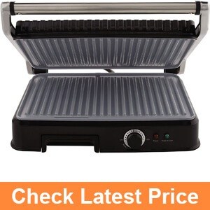 Oster Extra Large Titanium-Infused DuraCeramic Panini Maker and Indoor Grill