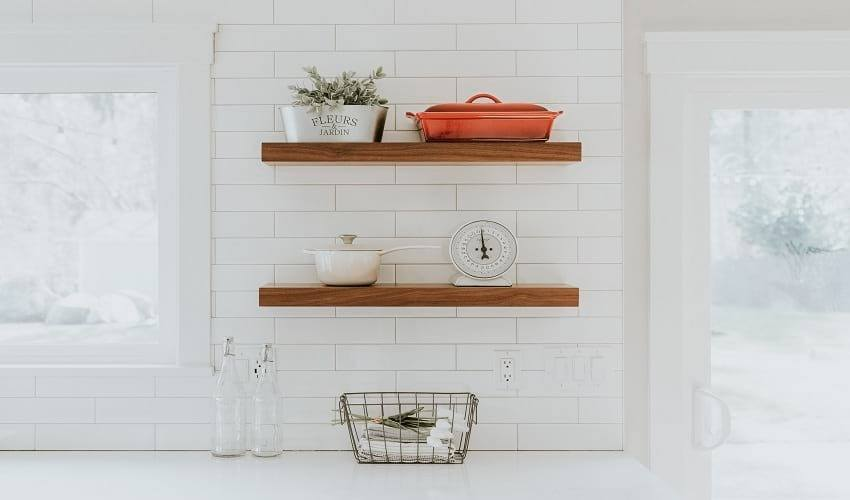 How to Install Floating Shelves without Drilling